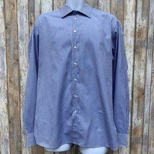 Giorgio Armani Tattersall Cotton Dress Shirt.